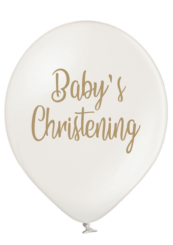 Latex Preprinted Baby's Christening Balloons | 12""