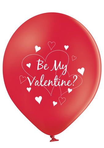 Latex Preprinted Be My Valentine Balloons | 10""
