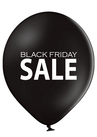 Latex Preprinted Black Friday SALE Balloons | 12""