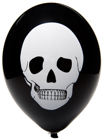 Latex Preprinted Skull Balloons | 10""