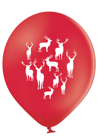 Latex Preprinted Reindeer Balloons | 10""