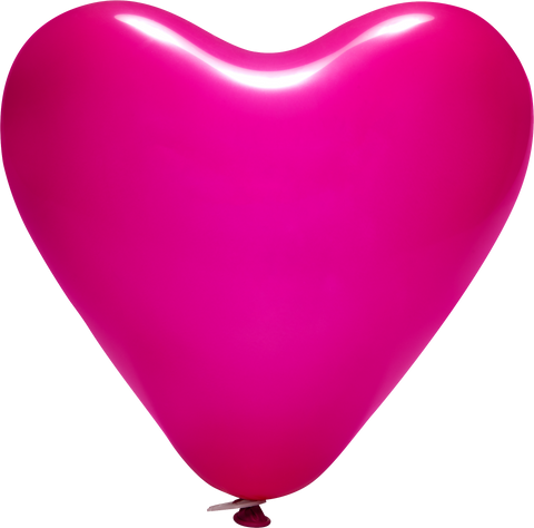 "12"" Printed Latex Heart Balloons (1 Colour 