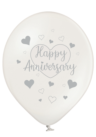 Latex Preprinted Happy Anniversary Balloons | 12""