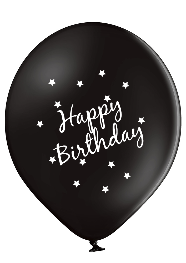 Latex Preprinted Happy Birthday Balloons