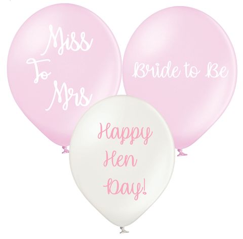 Latex Preprinted Hen Party Balloons | 12""