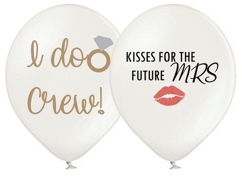 Latex Preprinted I Do Kisses Balloons | 12""