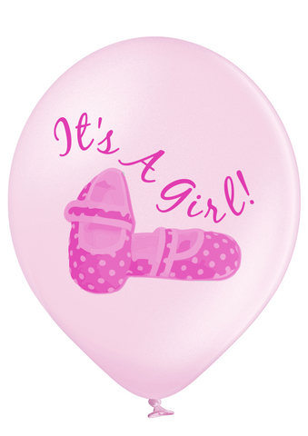 Latex Preprinted It's A Girl Balloons | 12""