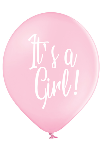 Latex Preprinted It's A Girl Script Balloons | 12""