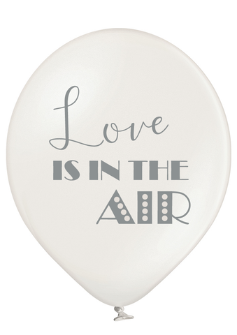 Latex Preprinted Love Is In The Air Balloons | 12""
