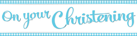 Christening Blue Banner | 9ft