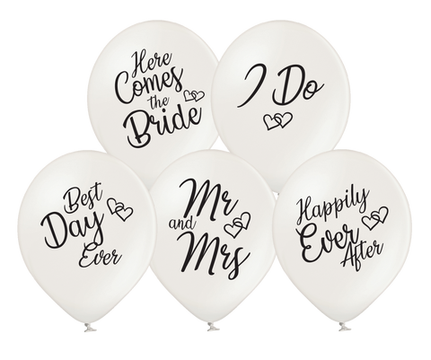 Latex Preprinted Mr & Mrs I Do Balloons | 12""