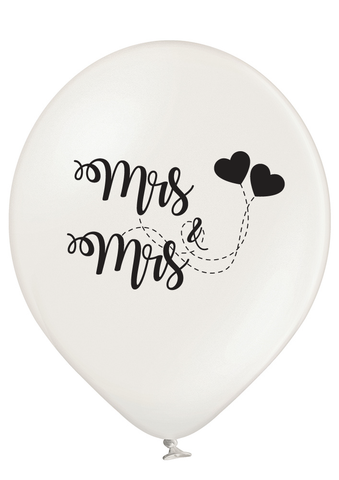 Latex Preprinted Mrs & Mrs Balloons | 12""