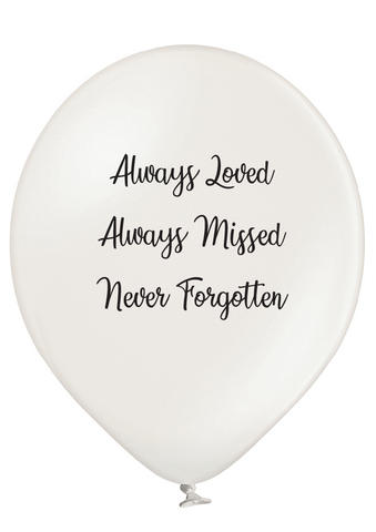 Latex Preprinted Never Forgotten Balloons | 12""