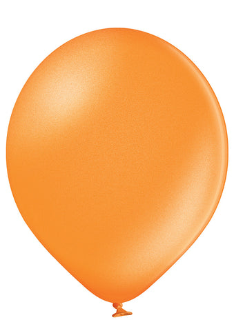 Latex Metallic Orange Balloons |  12""