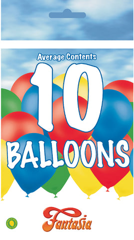 Bargain Latex Assorted Balloons | 10