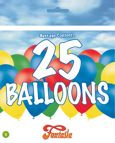 Bargain Latex Assorted Balloons | 25