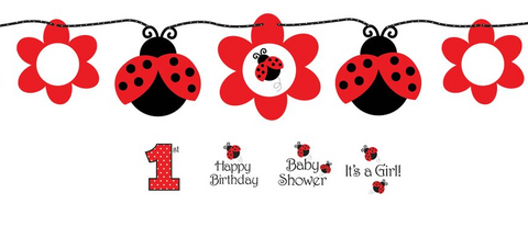 Ladybug Party Banner | 5ft