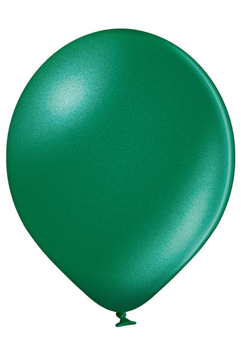 Latex Metallic Racing Green Balloons | 12""