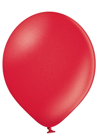 Latex Metallic Red Balloons | 12""
