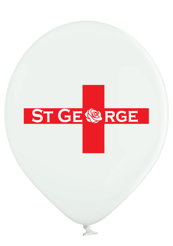 Latex Preprinted St George's Day Balloons | 12""