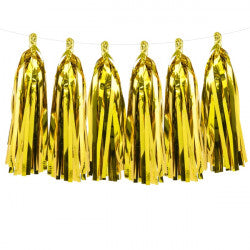 Gold Metallic Tassel Garland  | 12m