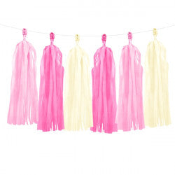 Pink Mix Tassel Garland  | 12m