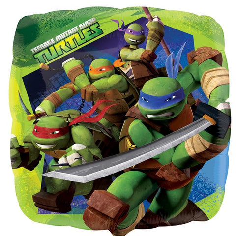 Click & Collect Foil Square Nickelodeon Turtles Balloon | 18""