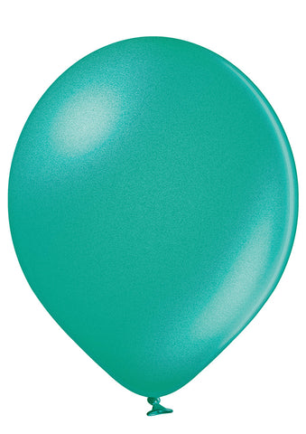 Latex Metallic Turquoise Balloons | 12""