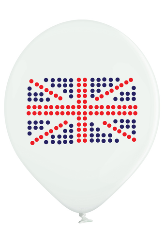 Latex Preprinted Union Jack Balloons | 12""
