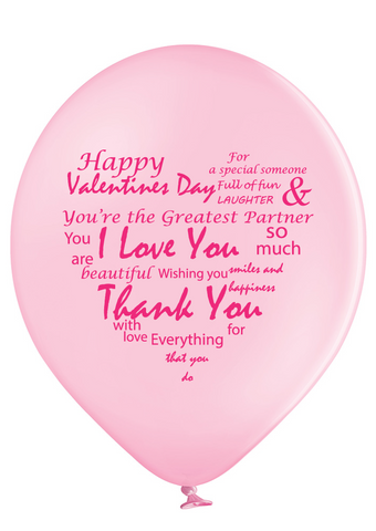 Latex Preprinted Valentine's Day Balloons | 10""