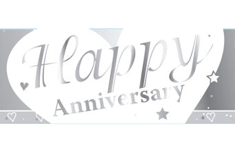 Happy Anniversary Foil Banner | 9ft