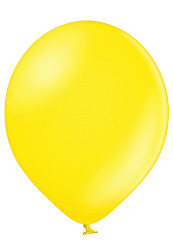 Latex Metallic Yellow Balloons | 12""