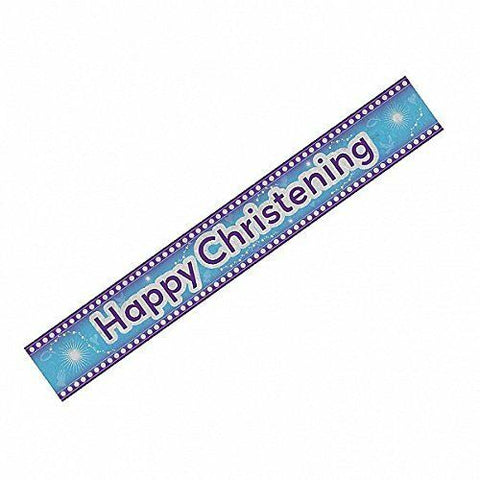 Happy Christening Blue Banner | 9ft