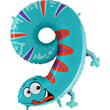 Animaloons 0-9 Foil Supershape Number Balloons | 40""