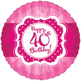 Foil Round Perfectly Pink Birthday Balloons | 18""