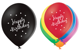 Latex Preprinted Happy Birthday Balloons | 12""