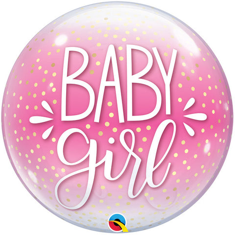 Bubble Message - Baby Girl Confetti Dots Balloon | 22""