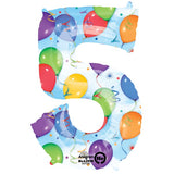 Foil Numbers Streamer Balloons | 34""