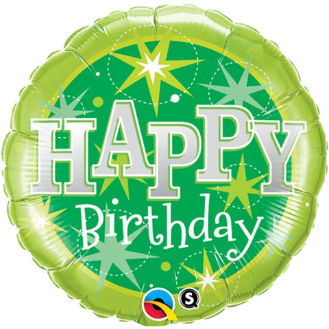 Green Explosion Birthday Foil Balloon  | 18"