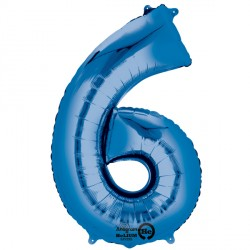 Foil Numbers Metallic Blue Balloons | 16""
