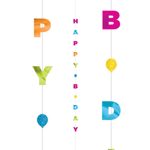 Colourful Happy Bday Fun String | 1.82m