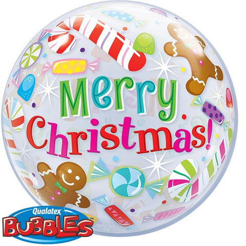 Christmas Candles and Treats Bubble Balloon | 22""