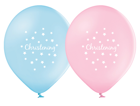 Latex Preprinted Christening Balloons | 10""