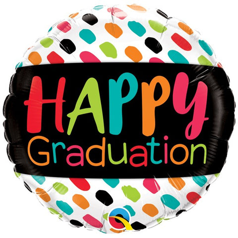 Foil Round Happy Graduation Balloon | 18""