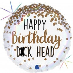 Happy Birthday D*ckhead Foil Balloon - 18""