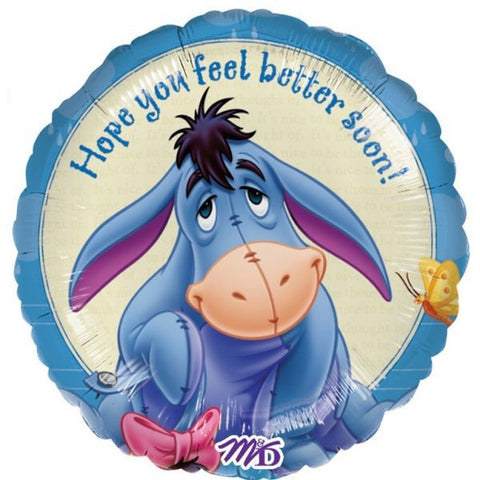 Foil Round Eeyore Feel Better Balloon | 18""