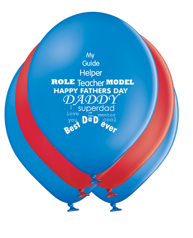 Latex Preprinted Father's Day Balloons | 12""