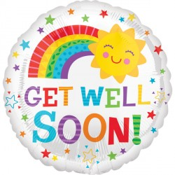 Click & Collect Foil Round Get Well Sun Balloon S40 | 18""