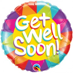 Click & Collect Foil Round Get Well Bright Balloon S40 | 18""