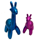 Large Blue Balloon Giraffe Ornament